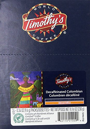 Timothy S World Coffee Decaf Colombian K Cup Coffee 48